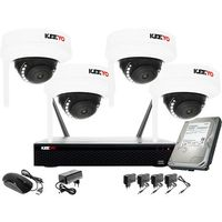 Zestawy monitoringowe, Bezprzewodowy system monitoringu 4 kamery Full HD 2MPx Kuliste KEEYO