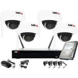 Bezprzewodowy system monitoringu 4 kamery Full HD 2MPx Kuliste KEEYO