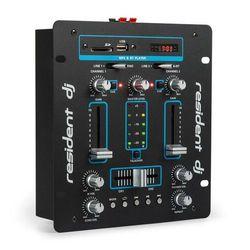 Resident DJ DJ-25 BT mikser DJ Bluetooth USB czarny/niebieski