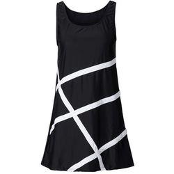 Sukienka plażowa z materiału kąpielowego bonprix czarny