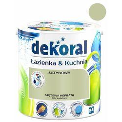 Farba satynowa Dekoral Łazienka i Kuchnia miętowa herbata 2,5 l