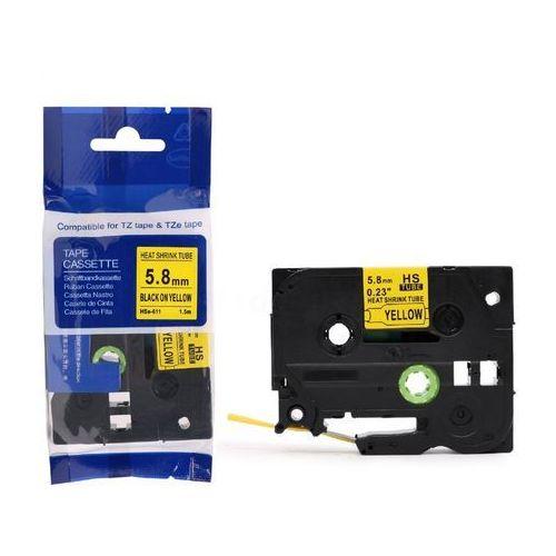 Rurki termokurczliwe, Rurka termokurczliwa Brother HS2-611/Hse-611 żółta 6mm x 1.5m ø 1.7mm-3.2mm - zamiennik | OSZCZĘDZAJ DO 80% - ZADZWOŃ!