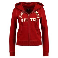 Abercrombie & Fitch HOLIDAY LOGO Bluza rozpinana red