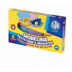 Modelina pastelowa z brokatem Astra 6 kolorów 304118001
