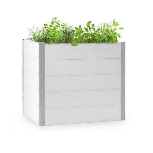 Doniczki i podstawki, Blumfeldt Nova Grow, podniesiona grządka, 100 x 91 x 100 cm, WPC, imitacja drewna, biała