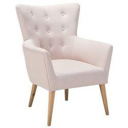 Fotel beżowy - fotel wypoczynkowy - do salonu - tapicerowany - ANGEN