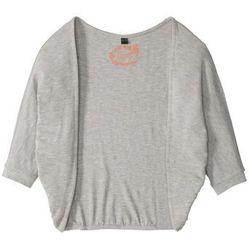 Shirt bez zapięcia, z rękawami typu nietoperz bonprix jasnoszary melanż