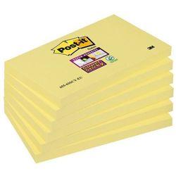 Bloczek samoprzylepny POST-IT Super Sticky (655-S), 127x76mm, 1x90 kart., żółty