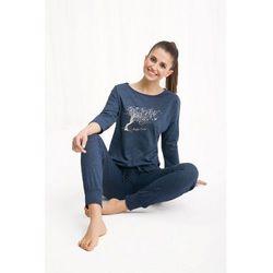 Bawełniana piżama damska LUNA 460 granatowy