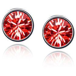 EXCLUSIVE Kolczyki okrągłe czerwone - CZERWONE