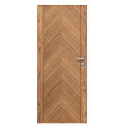 Skrzydło drzwiowe drewniane pełne Nut Dąb 80 Lewe Radex