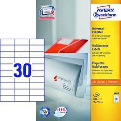 Etykiety uniwersalne Avery Zweckform 3489, 70x29,7mm