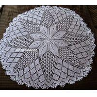 Obrusy, Obrus koronkowy (robiony na drutach) śred. 108 cm
