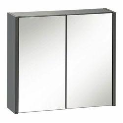 Wisząca szafka łazienkowa z lustrem - Madryt 6X Antracyt