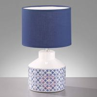 Lampy stołowe, Öland -– lampa stołowa z biało-niebieskim kloszem