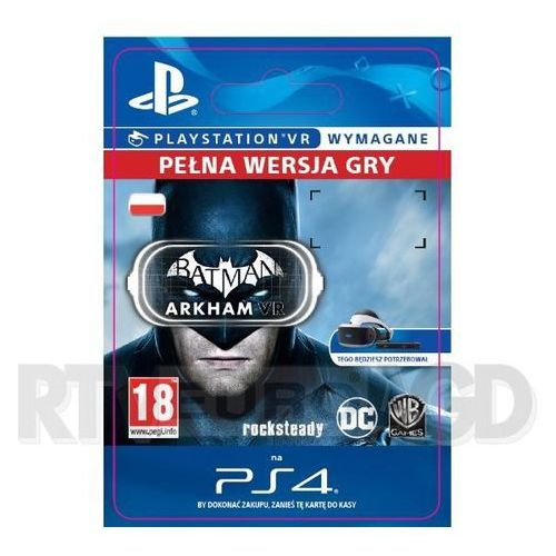 Gry na PlayStation 4, Batman Arkham VR (PS4)