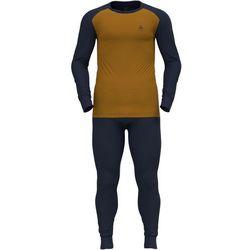 Odlo Active Warm Plus Special Set Men, niebieski/brązowy M 2021 Zestawy bielizny termicznej i narciarskiej