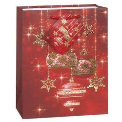 Torebka prezentowa ze wzorem świątecznym S 23x19 cm- 1 szt.