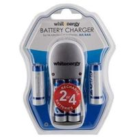 Ładowarki do akumulatorków, Ładowarka WHITENERGY do akumulatorów AA/AAA