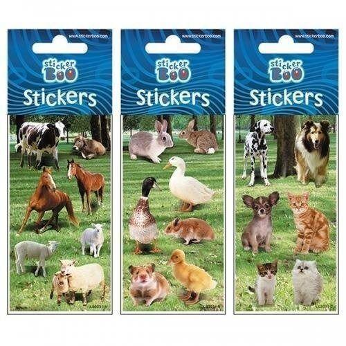 Naklejki, Naklejki Sticker BOO silver zwierzęta mix
