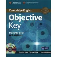 Książki do nauki języka, Cambridge English Objective Key. Podręcznik z Kluczem + CD (opr. miękka)
