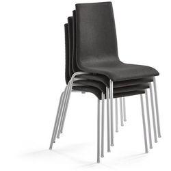 Krzesło konferencyjne MELVILLE 4 szt., ciemnoszary, aluminium