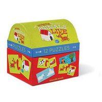 Puzzle, Puzzle truhlička: Where Animals Live/Kde zvířata žijí (12 dvoudílných puzzlí) neuveden