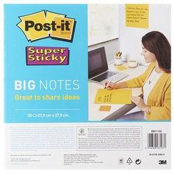Karteczki POST-IT Super Sticky Big Notes (BN11 -EU), 280x280mm,1x30 kart., żółty