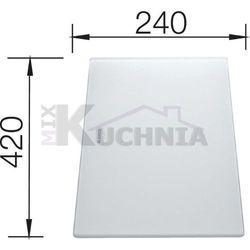 Deska kuchenna do krojenia BLANCO 420x240mm Szkło hartowane satynowe (225333)