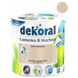 Farba satynowa Dekoral Łazienka i Kuchnia deser waniliowy 2,5 l