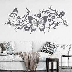szablon malarski kwiaty motyl 0902