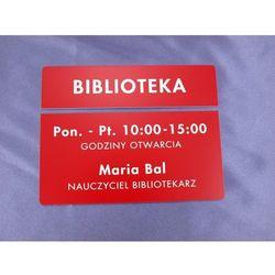 Tabliczki dwuczęściowe na drzwi lub ścianę - czerwone - wym. 20x5cm + 20x10cm