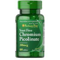 Preparaty ziołowe, Chrom 200mcg Chromium Picolinate 100 kapsułek Puritan's Pride