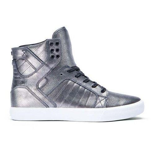 Męskie obuwie sportowe, buty SUPRA - Skytop Pewter Metalic-White (PEW) rozmiar: 37.5