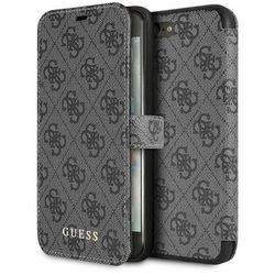 Guess Booktype 4G Charms Etui iPhone 8 Plus / 7 Plus z kieszeniami na karty (Szary)