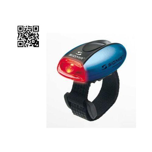 Oświetlenie rowerowe, Sigma Lampka rowerowa Micro Tylna - Niebieska