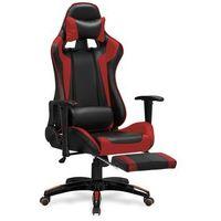 Fotele dla graczy, Fotel gamingowy Halmar DEFENDER 2 czerwony - fotel dla gracza Dostawa gratis