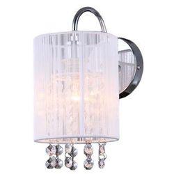 Kinkiet Italux Lana MBM1787/1 WH z kryształami lampa ścienna 1x40W E14 biały