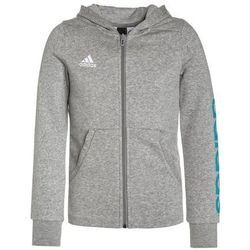adidas Performance LINEAR Bluza rozpinana medium grey heather/energy blue