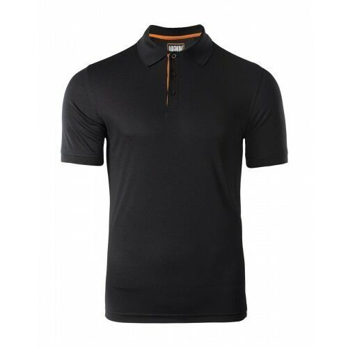 Męskie koszulki polo, MAGNUM Koszulka MĘSKA POLO BLACK Polówka roz. XL