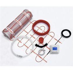Zestaw ogrzewania podłogowego mata grzejna 0,5x10m 5m2 regulator akcesoria Thermoval
