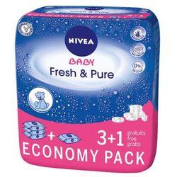 NIVEA 4x63szt Baby 3+1 Fresh&Pure Chusteczki nawilżane dla dzieci i niemowląt