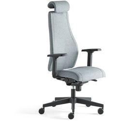 Krzesło biurowe LANCASTER, wysokie oparcie, niebieskoszary