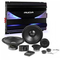 Auna CS-Comp-12 zestaw głośników samochodowych hi-fi | 6 -kanałowa końcowka mocy 570 W RMS