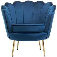 Fotele, FOTEL MUSZELKA LOTUS YC-7088 NIEBIESKI WELUR #67