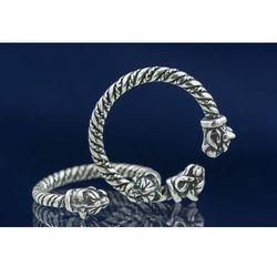 Pierścień celtycki z głową kota srebro Ag 925 SBR291