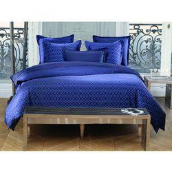 Pościel AZZARO z bawełnianego perkalu BEAUMONT - poszwa na kołdrę 260 x 240 cm + 2 poszewki na poduszkę 65 x 65 cm - Kolor niebieski
