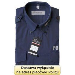 Koszula granatowa Policji z długim rękawem