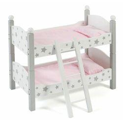 Bayer Chic składane łóżko piętrowe dla lalek szare