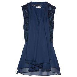 Kamizelka bluzkowa Premium z koronką bonprix ciemnoniebieski